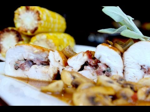 Chicken Saltimbocca with Rosemary Infused Corn