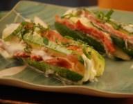 Courgettes Bayadere (Zucchini with Prosciutto & Mozzarella)