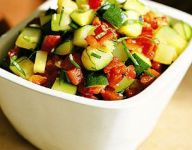 Zucchini with Roasted Red Peppers and Chives