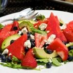 Watermelon, Berry and Avocodo Salad