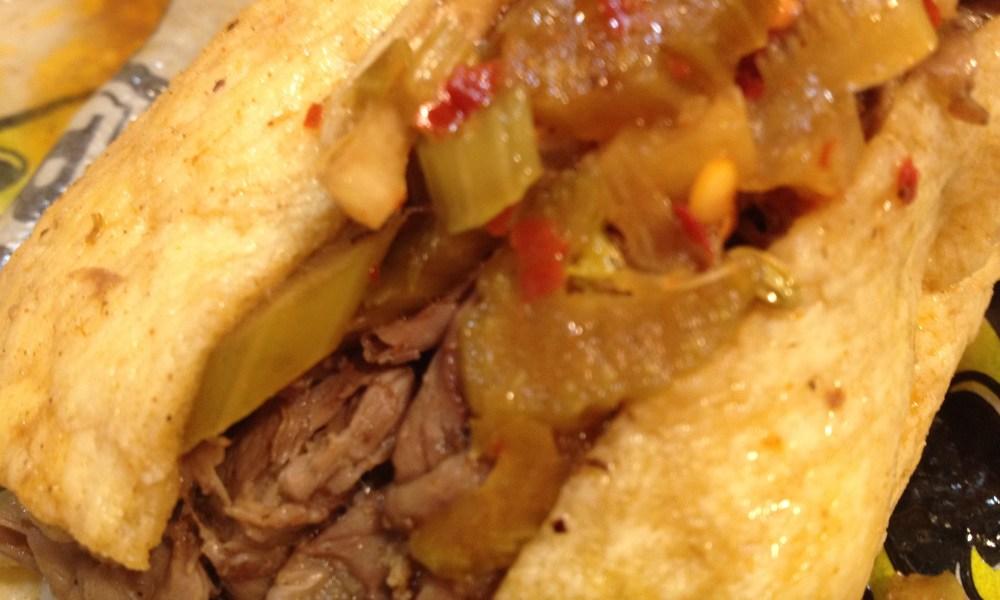 Italian Beef Sandwich, dipped