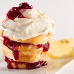 Otis Spunkmeyer's new Angel Food Muffin with Lemon Cheesecake Toppng and Raspberry Filling