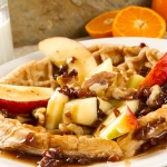 Apple and Oatmeal Waffle