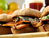 Applewood Smokehouse Sandwiches with Cider BBQ Sauce