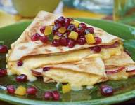 Pomegranate, Gouda and Pear Quesadilla with POM Salsa