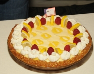 Lemon Swirl Cream Cheese Pie