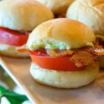 Bacon Tomato Slider--yes, please.