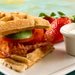 Bacon, Avocado and Tomato Waffle Sandwich