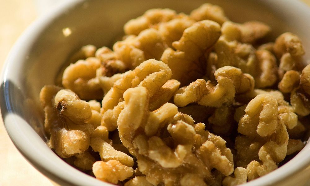 bowl of walnuts for eating alone, or for topping a favorite salad, dessert or in a delicious sauce.