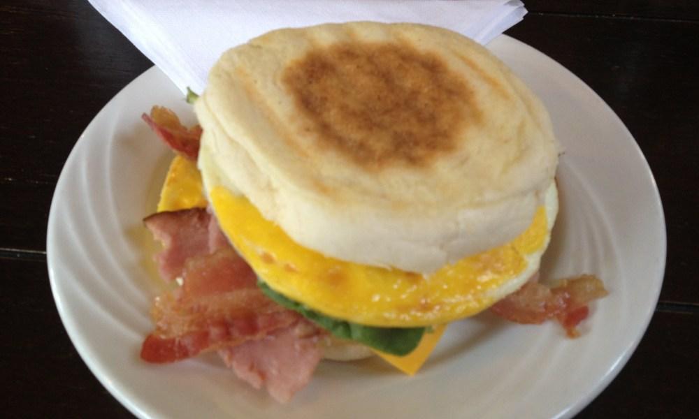 Protein laden breakfast sandwich