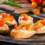Bruschetta with Olive Cream Cheese