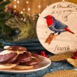 Calling Birds Chocolate Dipped Orange Cookies