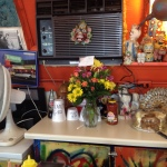 The offbeat decor, plus special flowers