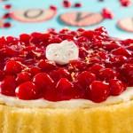 Cheesy Cherry Cake