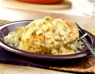 Chicken Creole with Chile Cream Sauce