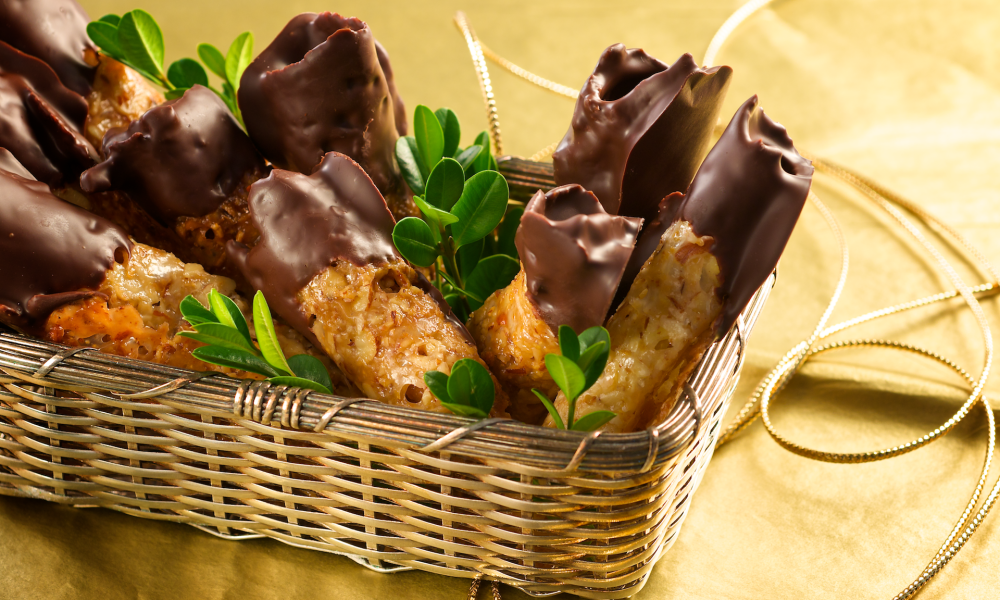 Chocolate Dipped Florentines