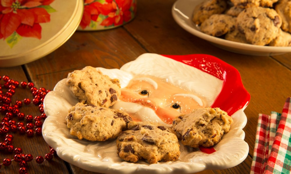 Dark Chocolate Hazelnut Drop Cookies