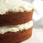 cake with cooked icing