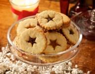 Star Linzer Cookies with Jam