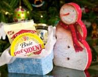 Christmas Snowman Brie