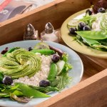 Cottage Cheese & Avocado Rose Salad