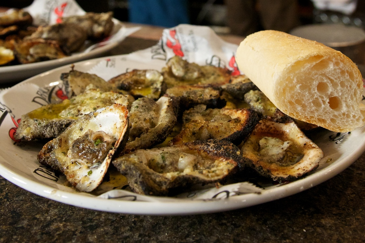 Drago's special charred oysters