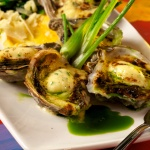 Baked oysters from Red Fish Grill