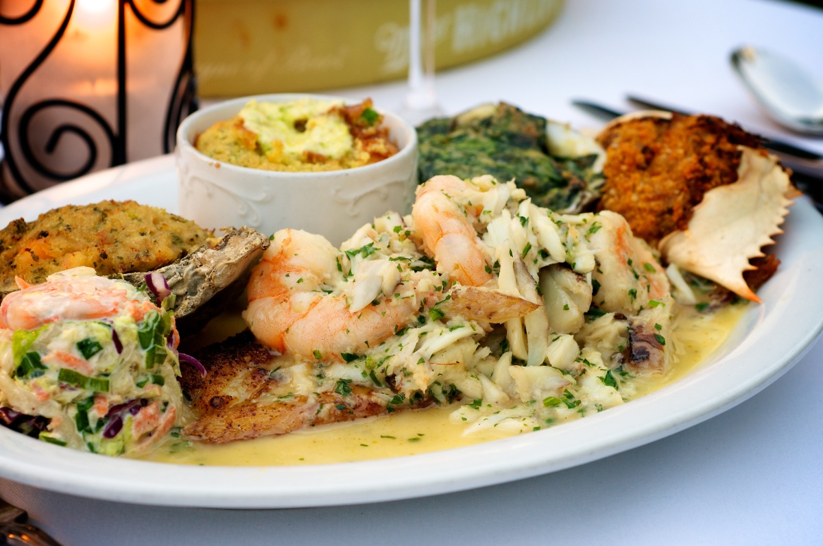 Chef Frank Brightsen, a Paul Prudhomme protegee, created this sampler plate