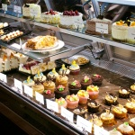 Pastry case at the Peabody