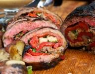 Grilled Italian Stuffed Flank Steak