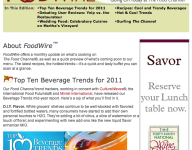 FoodWire, August 2011
