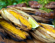 Grilled Corn with Chipotle Lime Butter