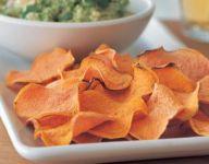 Guacamole and Sweet Potato Chips