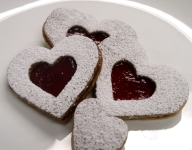Linzer Heart-Shaped Cookies