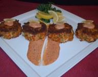 Blackened Crawfish and Lump Crab Cakes