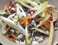 Endive Salad with Persimmon and Pomegranate