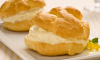 Cream puffs can be stored in an airtight container for up to 2 days; freeze for longer storage. If your cream puffs have softened in storage they can be crisped up in the oven before filling and serving. To re-crisp; bake uncovered in a 300°F for about 5 to 8 minutes. Cool completely before filling.