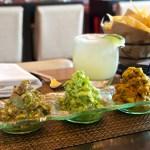 Guacamole Trio: mango, tradicional, toreado