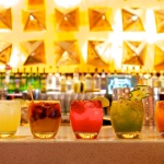 All the cocktails: Margarita Tradicional, Smokey Pablo, Misty's Sleeve, Pepino el Pyu and b.n.g.t.m.