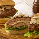Mushroom and Swiss Stuffed Burgers--you have to try them!