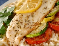 Oven Roasted Tilapia and Vegetables with Lemon Herb Butter