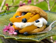 Peach and Blueberry Shortcake