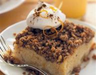 Pear Walnut Crumb Cake