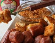 Hot Dog and Garlic Bun Fondue