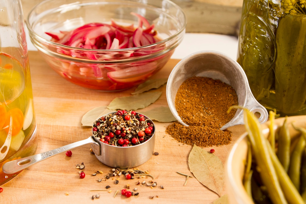 Pickling spices are part of homemade molecular gastronomy