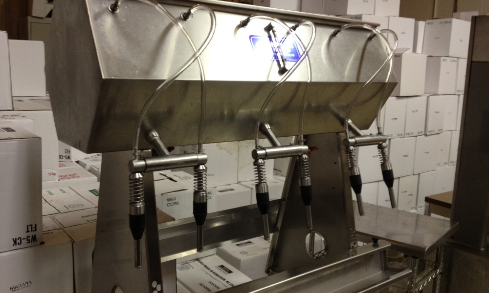 Bottling is one of the final steps in the process
