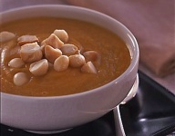 Pumpkin, Ginger and Toasted Macadamia Soup