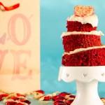 Topsy Turvey Red Velvet Mini-Tier Cake