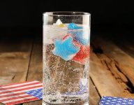 How To Make Red, White, and Blue Jello Ice Cubes