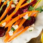 Roasted Carrots & Beet Salad with Lemon Vinaigrette